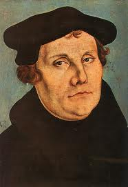 Lucas Cranach's portrait of Martin Luther, 1529.