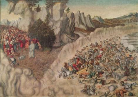 Lucas Cranach the Elder 'Untergang des Pharao im Roten Meer' (Germany, 1530)
